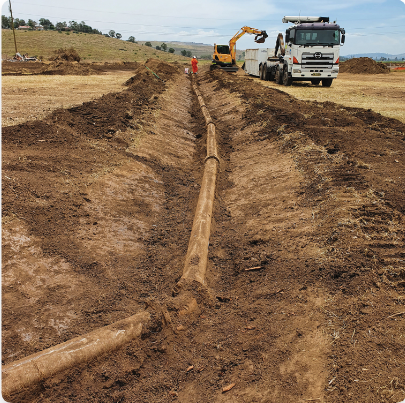 Track path created by the excavator