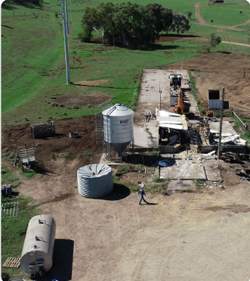 Construction on land